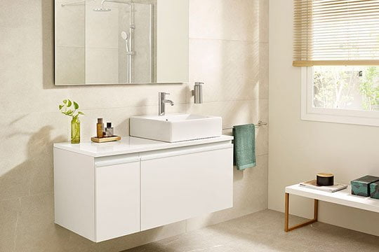 Muebles de baño en acabado lacado