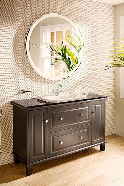 Materiales en los muebles de baño: Madera