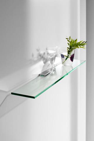 estanterías de cristal baño